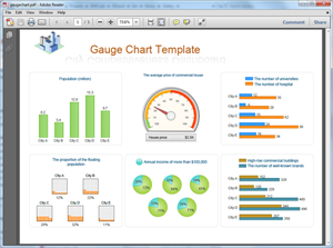 Free gauge chart templates for word powerpoint pdf pdf gauge chart template pronofoot35fo Images