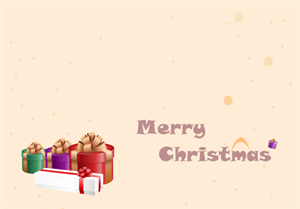 Gift Christmas Card Template