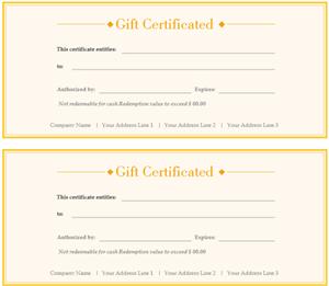 Modèle de chèque-cadeau 300