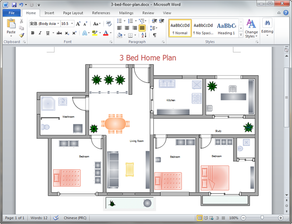 Word Home Plan Template