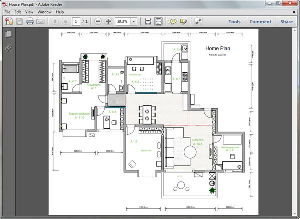 PDF 家の間取りテンプレート