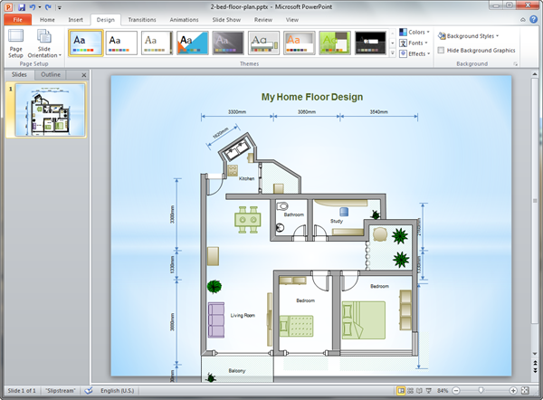 PowerPoint Home Plan Template