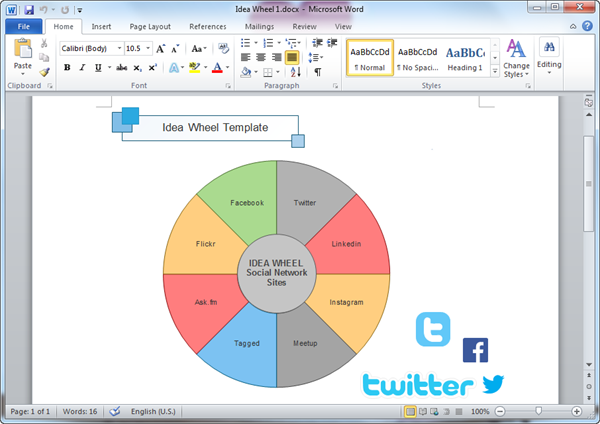 Word Idea Wheel Template