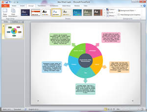 PowerPoint Idea Wheel Template