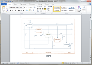 Word IDEF Diagram Template