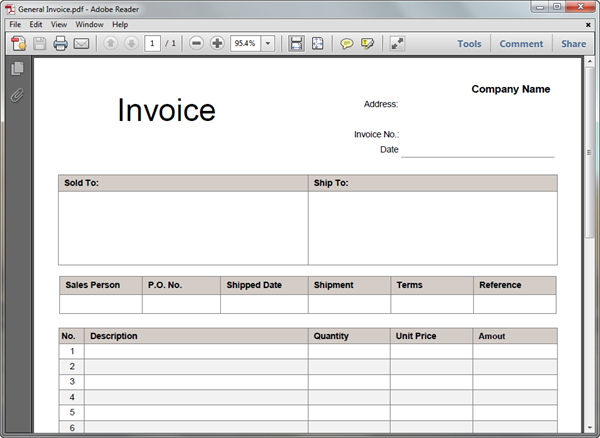 Invoice Templates For PDF - Pdf invoice template