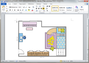 Word Kids Room Plan Template