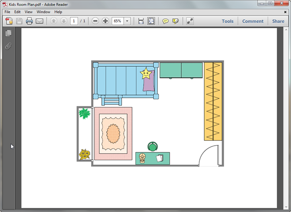 PDF Kids Room Plan Template