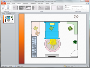 PowerPoint Kids Room Plan Template