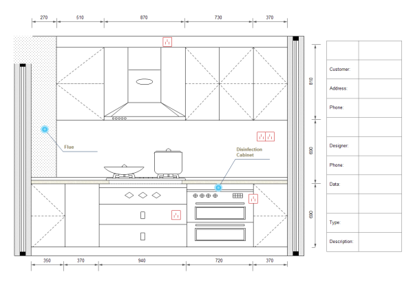 Kitchen design diagram examples and templates for Kitchen design examples