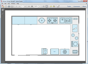 PDF Kitchen Plan Template
