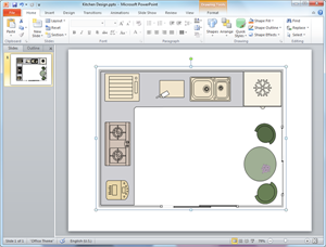 PowerPoint Kitchen Plan Template