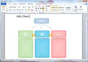 Word KWL Chart Template