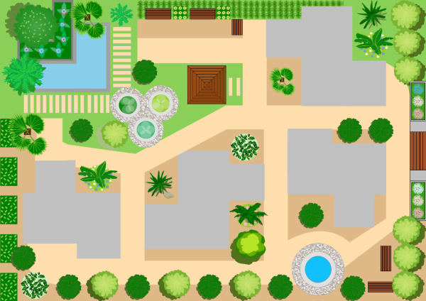 Landscape design examples and templates for Garden design map