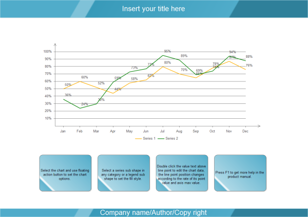 line graph templates for powerpoint, Modern powerpoint