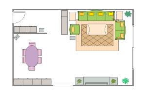 Edraw Living Room Plan Template