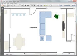 PDF Living Room Plan Template