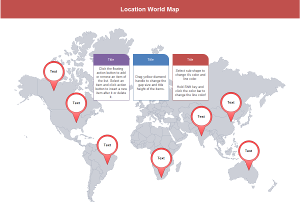 Location World Map Template