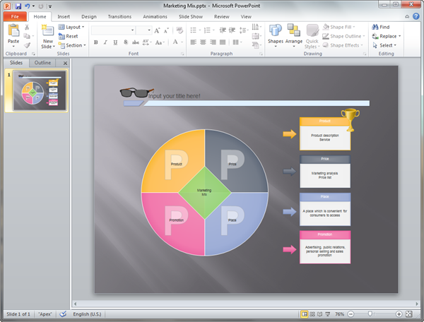 PowerPoint Marketing Diagram Template
