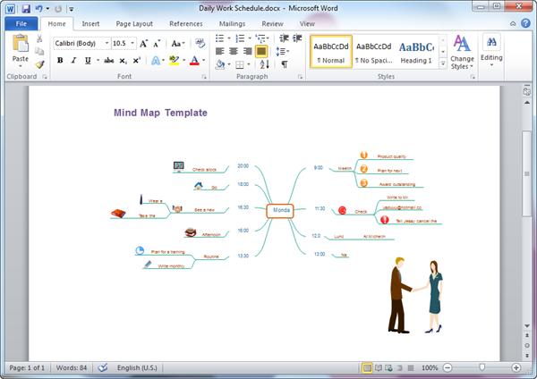 Mind Map Excel Template Mandegarfo