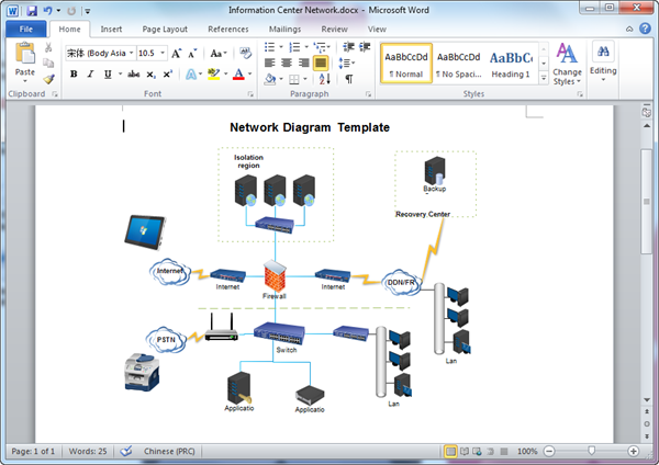 word network diagram template - Creating Network Diagram