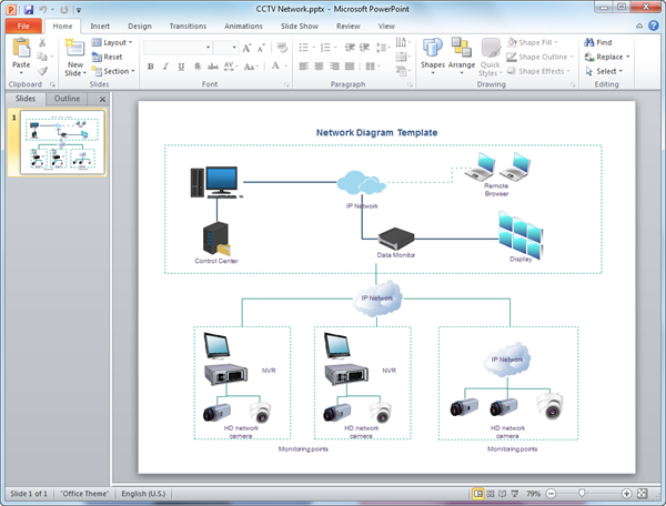 network diagram templates for powerpoint, Modern powerpoint