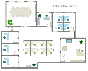 Free office plan templates for word powerpoint pdf for Office floor plan samples