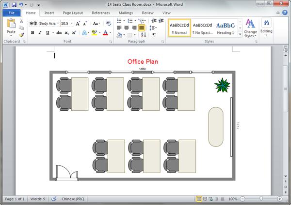 Modèles de plan de bureau en Word