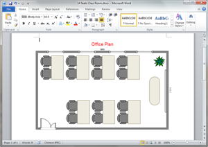 Word Office Plan Template