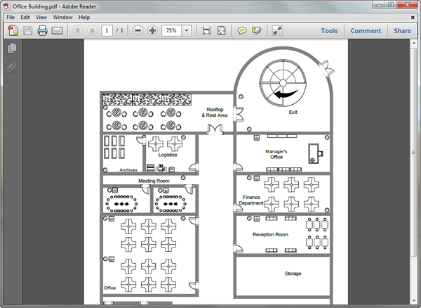 PDF Office Plan Template