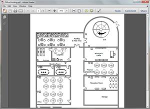 Modèle de plan de bureau en format PDF