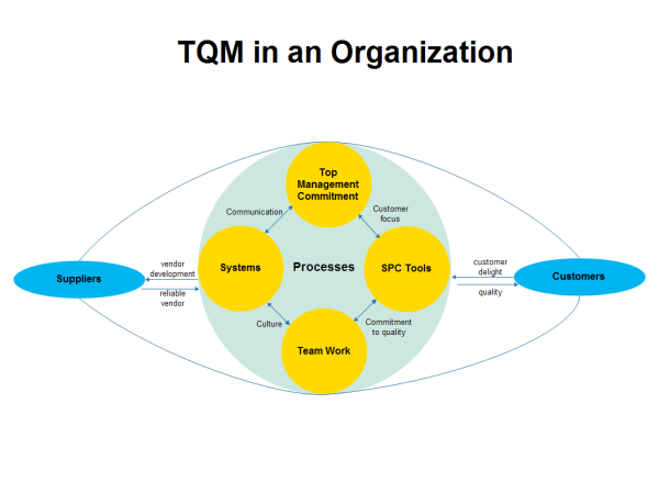Organization TQM Diagram Template