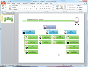 PowerPoint Organizational Chart Template