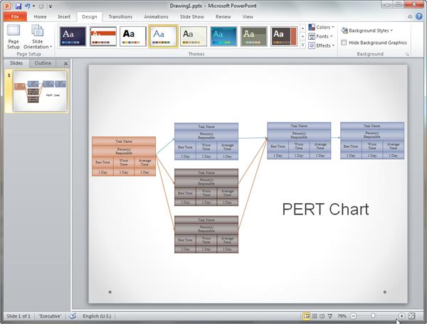 PowerPoint PERT図テンプレート
