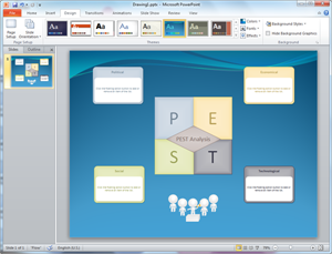 PowerPoint PEST Diagram Template