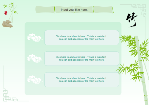 Presentation with Bamboo Theme Examples