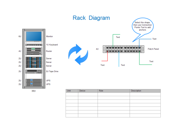 rack diagram templates and examples