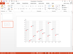 PowerPoint Scatter Plot Template
