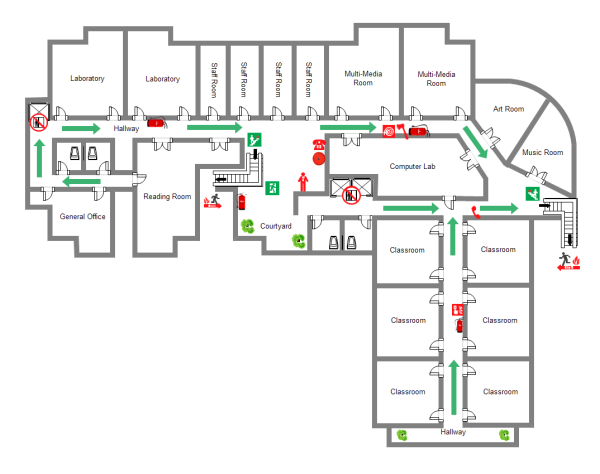 School layout examples and templates for Online house map maker