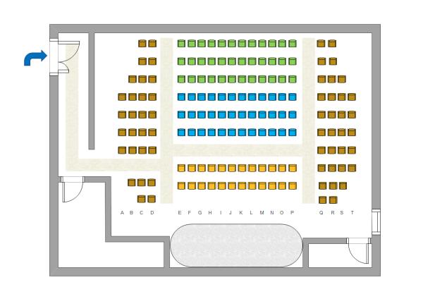 Edraw 座席表テンプレート