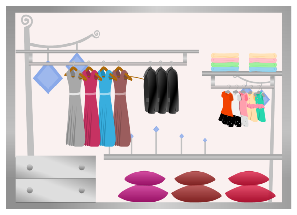 Simple Wardrobe Design Template
