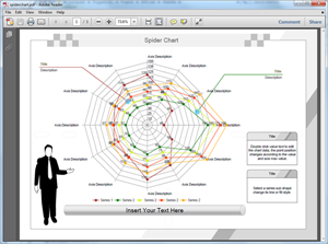 how to create spider charts in excel