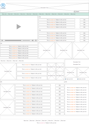 Sports News Website Wireframe Examples