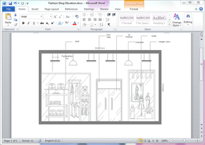 Word Store Plan Template