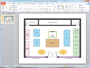 PowerPoint Store Plan Template