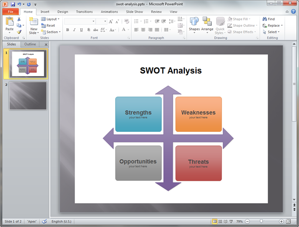 PowerPoint SWOT Matrix Template