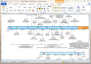how to draw a timeline in word