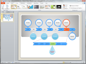 how to create gantz timeline in powerpoint