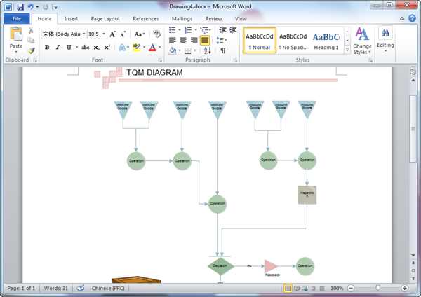 Word TQM Diagram Template