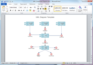 Word UML Diagram Template